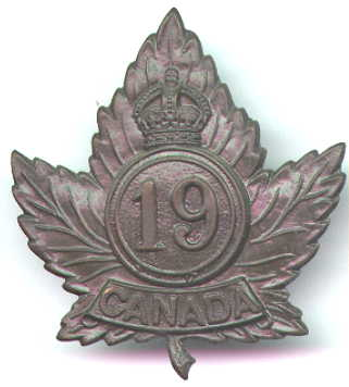 19th Battalion, CEF, cap badge