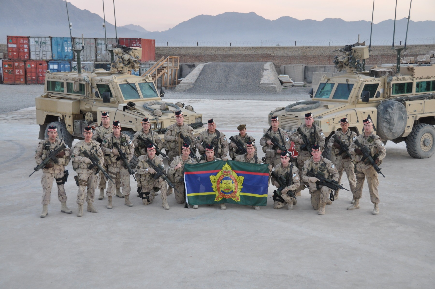 Argylls serving with the Provincial Reconstruction Team (force protection), 26 May 2009