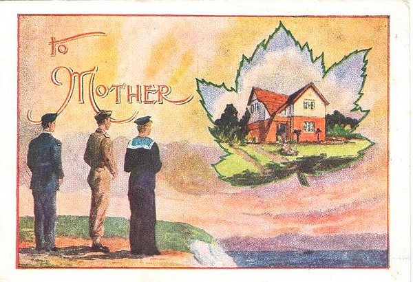 Laba card to mother, front