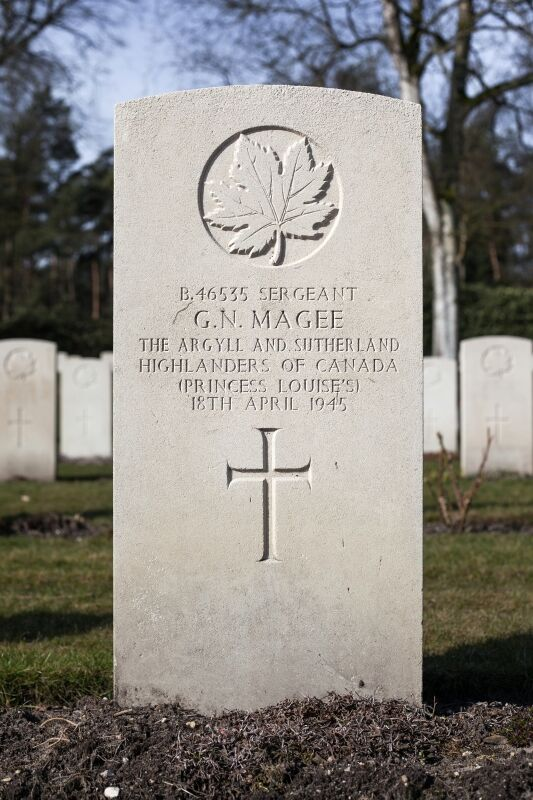 Grave marker, Sgt Gerald Norman Magee