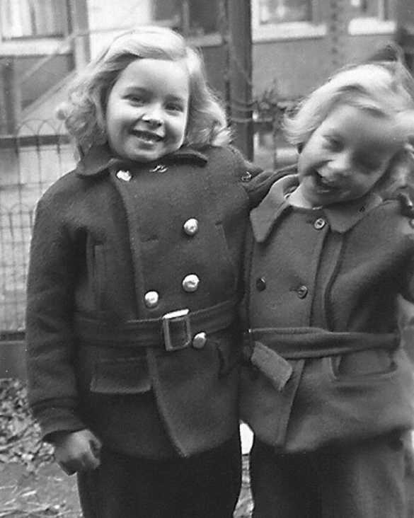 Laurette and Carol 9 Roblock Avenue 1942
