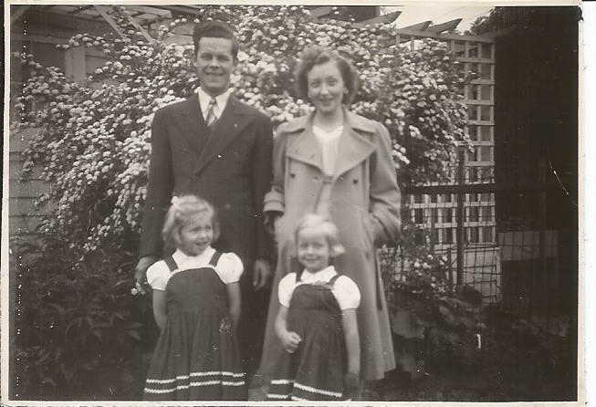 Fred and Marg Woodward and daughters